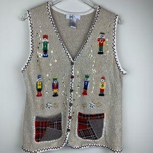 Kikit Christmas nutcracker sweater vest